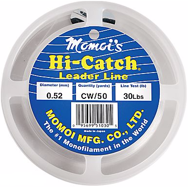Momoi's Hi-Catch Nylon Monofilament Leader Keeper - 50 Yards - Fishing's Finest