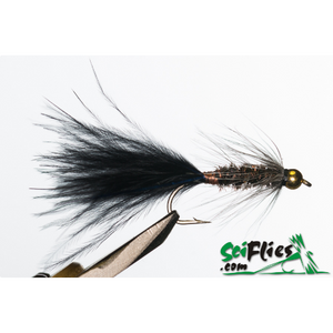 SciFlies Woolly Bugger - Black/Peacock Tungsten - Fishing's Finest