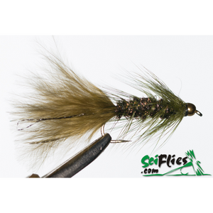 SciFlies Woolly Bugger - Olive/PeacockTungsten - Fishing's Finest