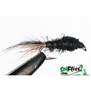 SciFlies Gold Ribbed Hare's Ear (GRHE) - Black - Fishing's Finest