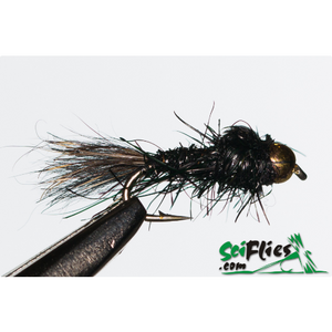 SciFlies Gold Ribbed Hare's Ear (GRHE) - Black GB - Fishing's Finest