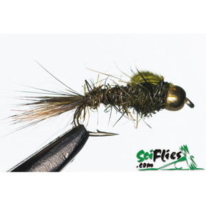 SciFlies Gold Ribbed Hare's Ear (GRHE) - Olive Flash Back GB - Fishing's Finest