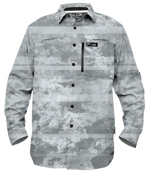 Pelagic Pro Series Guide Shirt - Coral Camo White - Fishing's Finest