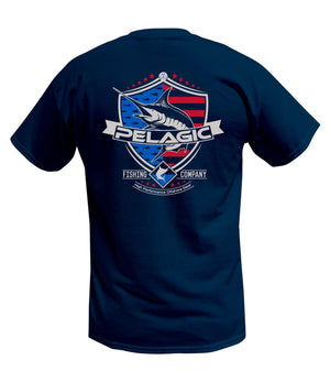 Pelagic Patriot Marlin Tee - Black - Fishing's Finest