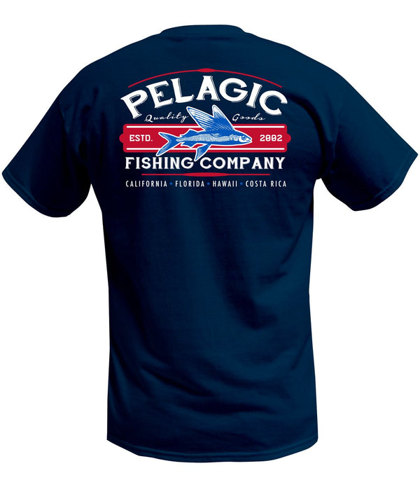 Pelagic Fish Co Tee - Navy - Fishing's Finest