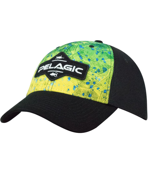 Pelagic Offshore Cap - Dorado Hex Green - Fishing's Finest