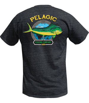 Pelagic Dorado Co Tee - Heather Charcoal - Fishing's Finest