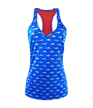 Pelagic Lido Performance Tank - Americamo Blue