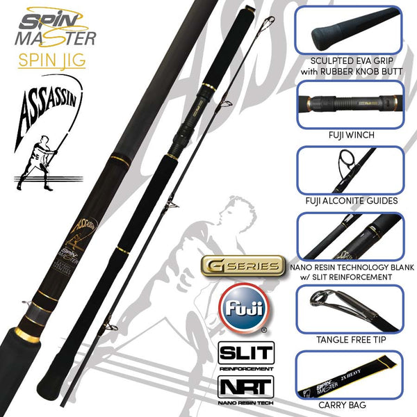 Assassin Spin Master Spin Jig Rod - Fishing's Finest