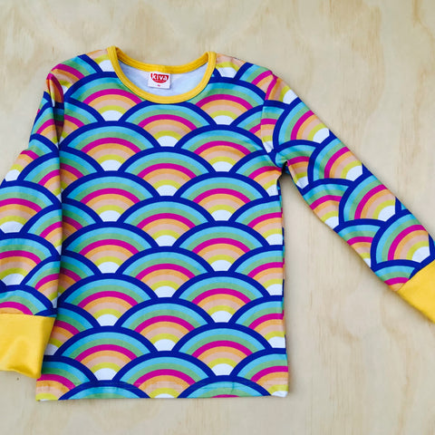 rainbow pastel long sleeve t-shirt
