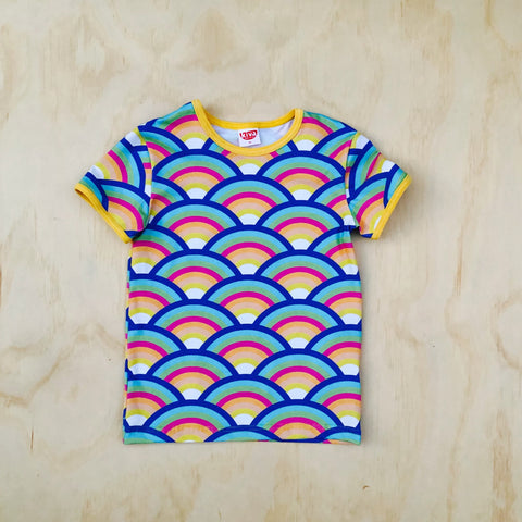 rainbow pastel short sleeve t-shirt