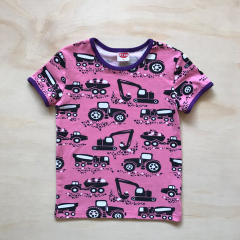 machines pink short sleeve t-shirt