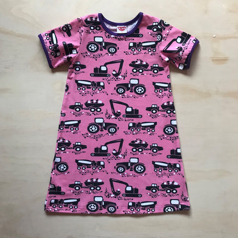 machines pink short sleeve t-shirt dress