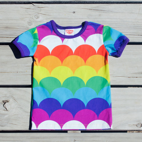 rainbow doris short sleeve t-shirt