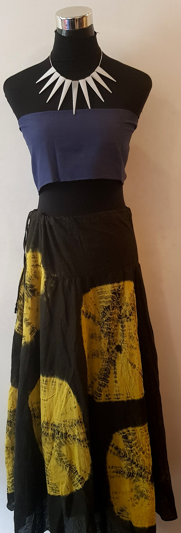Shibori Black-Yellow Skirt (AOC)