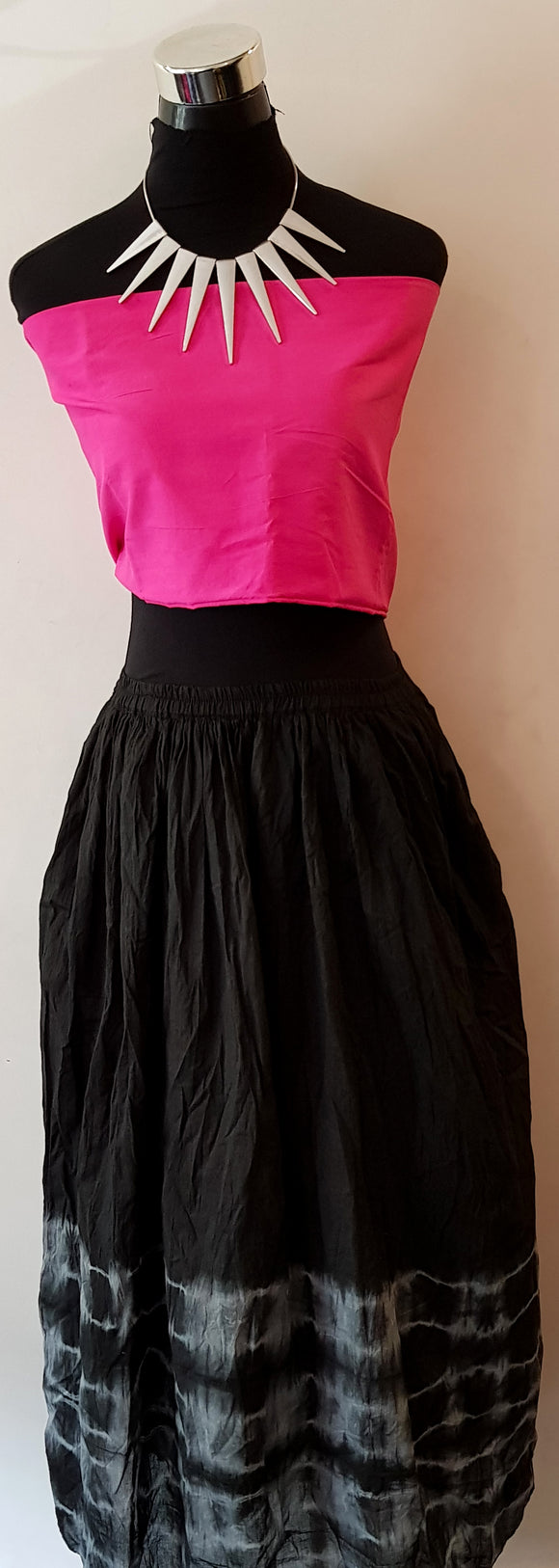 Shibori Black Skirt (BS)