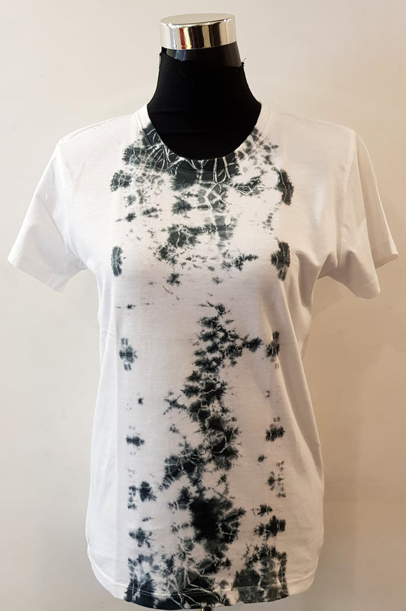 Shibori Short Sleeve Black T-Shirt (VCR)