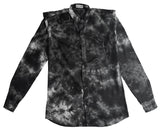 Shibori Black Slim-Fit Men's Shirt (C)