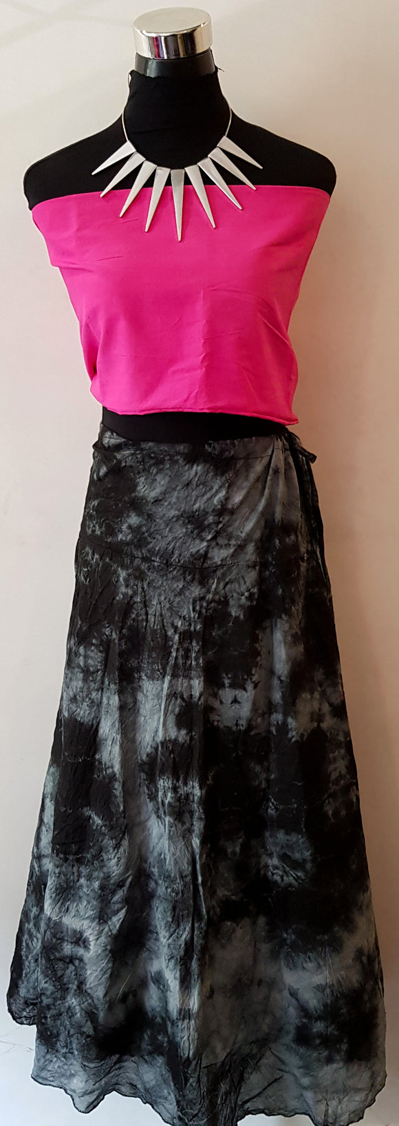 Shibori Black Skirt (C)