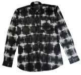 Shibori Black Slim-Fit Men's Shirt (HL)
