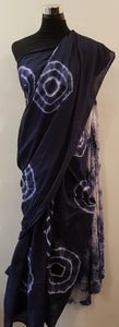 Shibori Blue Saree (AOC)