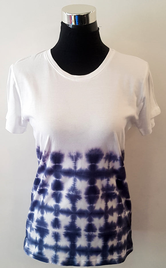 Shibori Short Sleeve Blue T-Shirt (BS)