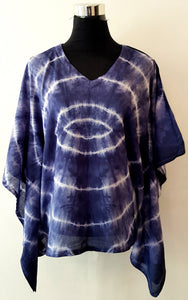 Shibori Blue Kaftan Top (CCC)