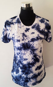 Shibori Short Sleeve Blue T-Shirt (C)