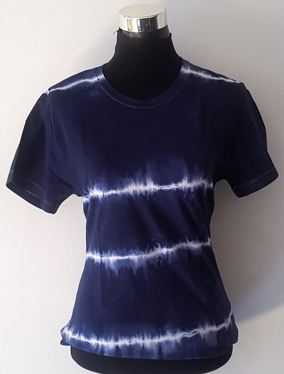 Shibori Short Sleeve Blue T-Shirt (HL)