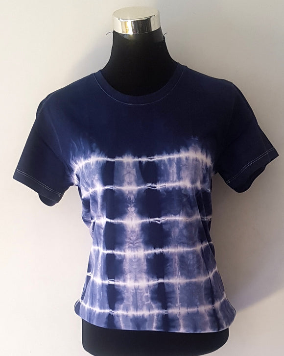 Shibori Short Sleeve Blue T-Shirt (MHL)