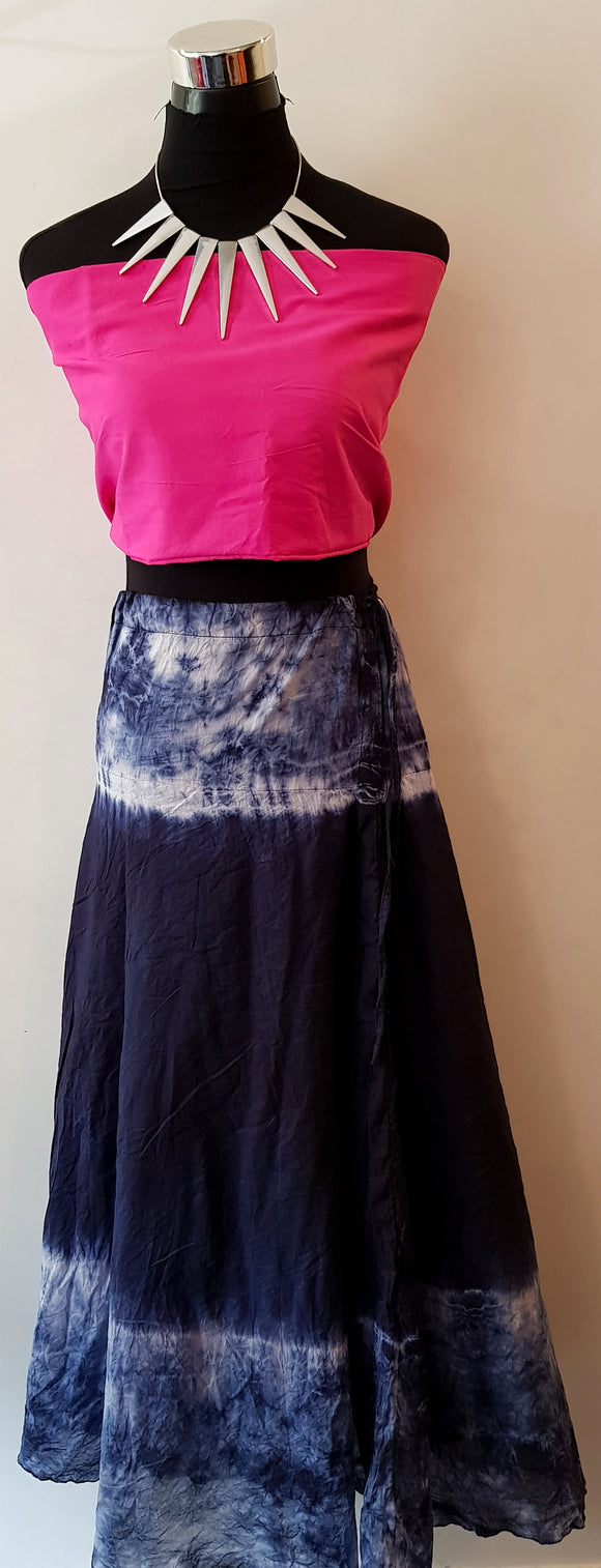 Shibori Blue Skirt (TBCR)