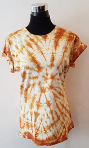 Shibori Short Sleeve Brown T-Shirt (CCR)