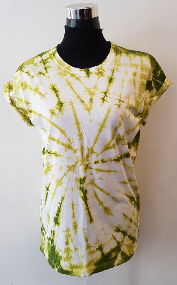 Shibori Short Sleeve Lime Green T-Shirt (CCR)