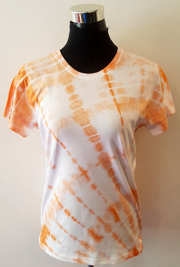 Shibori Short Sleeve Orange T-Shirt (DC)