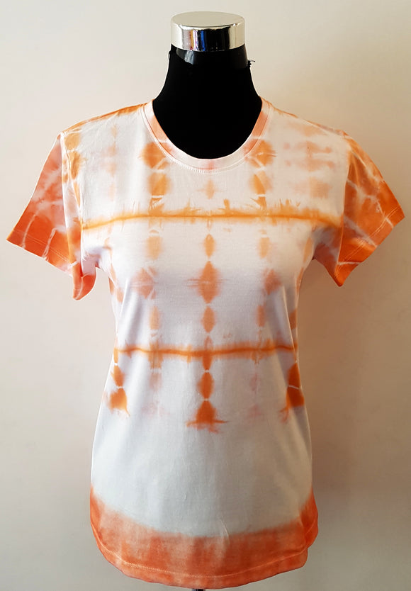 Shibori Short Sleeve Orange T-Shirt (TB-ST)