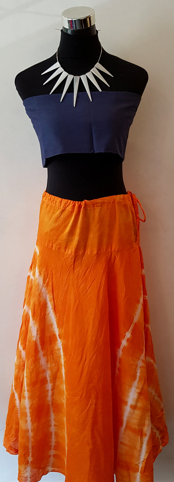 Shibori Orange Skirt (SST)