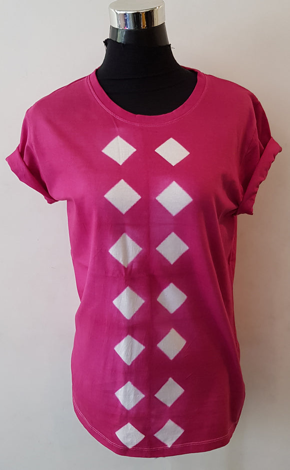 Shibori Short Sleeve Pink T-Shirt (CD)