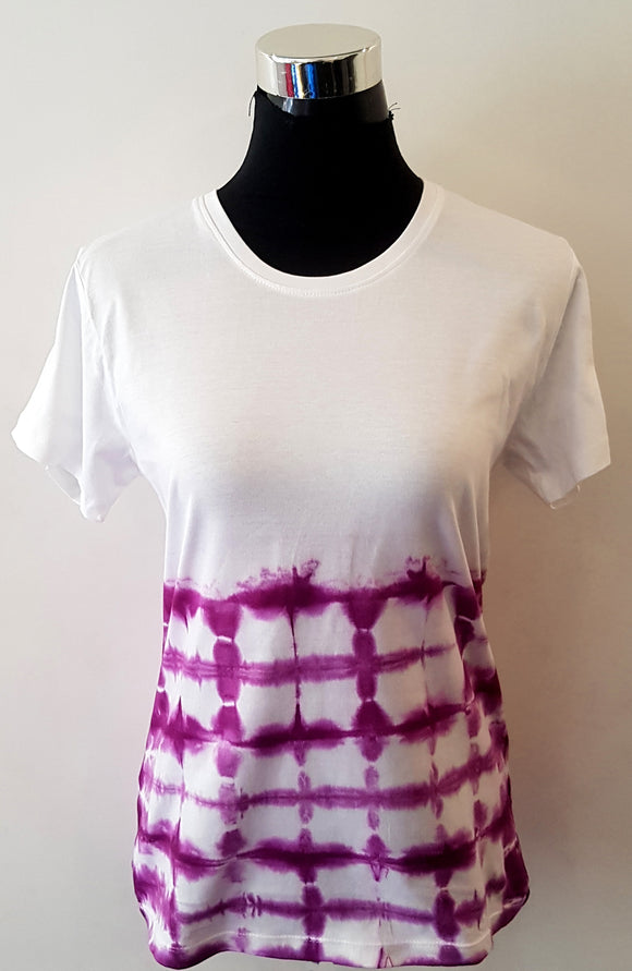 Shibori Short Sleeve Purple T-Shirt (BS)