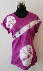 Shibori Short Sleeve Purple T-Shirt (TBC)