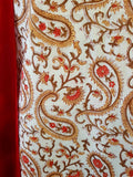 Handblock Red-Brown Kurta Material + Red Dupatta (PL-VL)