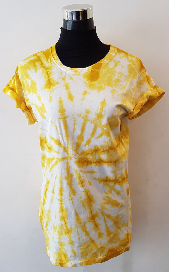 Shibori Short Sleeve Yellow T-Shirt (CCR)