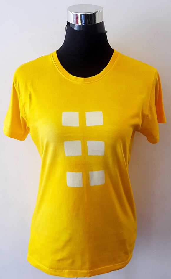 Shibori Short Sleeve Yellow T-Shirt (CS)