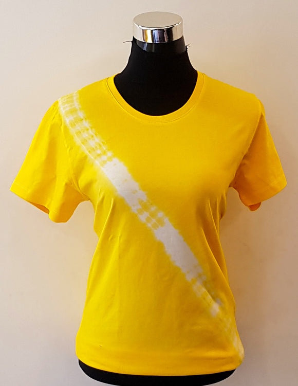 Shibori Short Sleeve Yellow T-Shirt (DL)