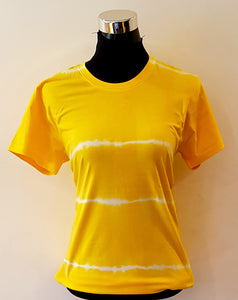 Shibori Short Sleeve Yellow T-Shirt (HL)