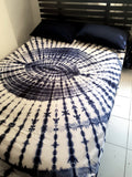 Shibori Blue Bed Cover with Pillow Covers (C)