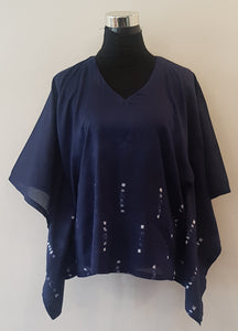 Shibori Blue Kaftan Top (CL)