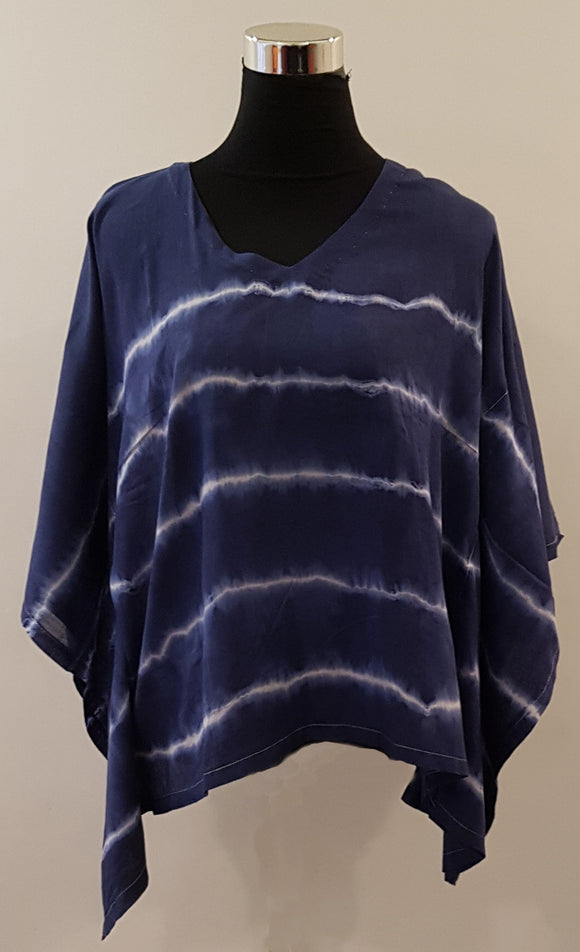 Shibori Blue Kaftan Top (HL)