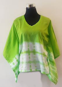 Shibori Green Kaftan Top