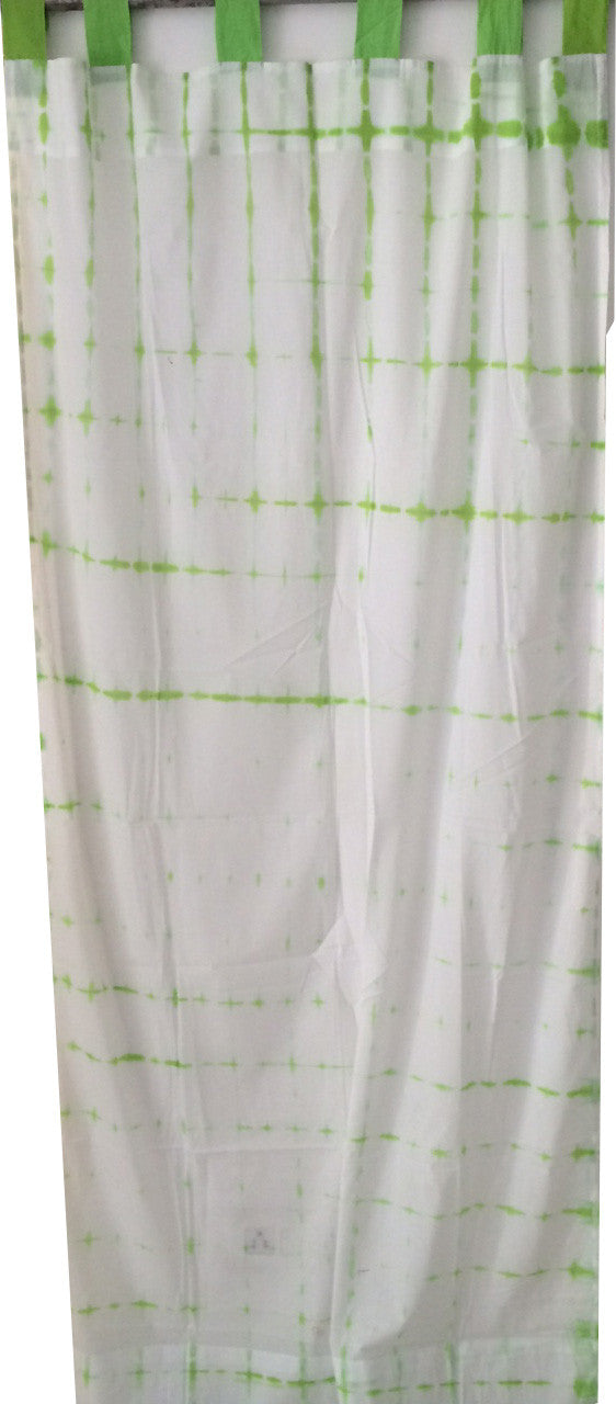 Shibori Sheer Curtain - Light Green