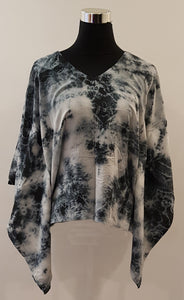 Shibori Black Kaftan Top (C)